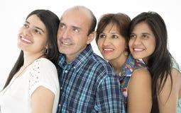 Denna är en lycklig familj Arkivbilder