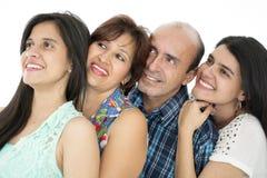 Denna är en lycklig familj Arkivbild