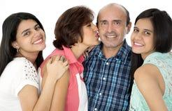 Denna är en lycklig familj Royaltyfria Foton
