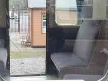 Denna är en sikt som jag tänker från passageraresidovagnen Fotografering för Bildbyråer