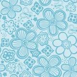 Denna är mappen av formatet EPS8 Svartvit sömlös botanisk textur royaltyfri illustrationer