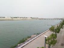 Denna är naturlig skönhet av floden royaltyfri bild
