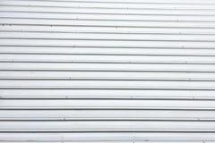 Denna är yttersidan av taket från bästa sikt det byggdes från grått aluminium, det ser som en rak linje, många rader royaltyfri fotografi