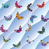 Bakgrund med fjärilar Arkivfoton