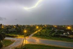 Denna blixt över staden Royaltyfria Bilder