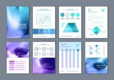 Denna broschyr är det bästa som en affärspresentation som används i marknadsföring och annonsering, reklambladet och banret royaltyfri illustrationer