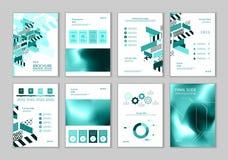 Denna broschyr är det bästa som en affärspresentation som används i marknadsföring och annonsering, reklambladet och banret stock illustrationer