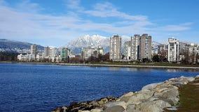 Denna budynek gór zima Vancouver zdjęcia stock