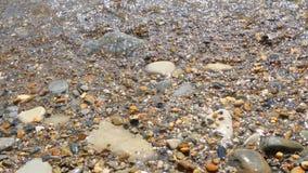 Denna fala obmyć otoczaka plaża zdjęcie wideo