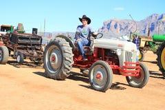 Traktorhandtag Arkivbild