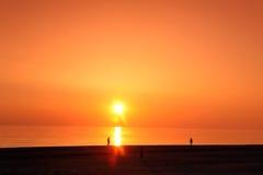 Denna głąbik scena w oceanie, plażowy ocean Zdjęcie Stock