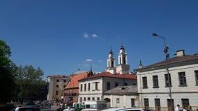Denna Kaunas gamla stad Arkivbilder