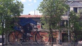 Denna Kaunas gamla stad Arkivfoto
