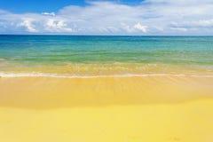 Denna kipiel na plaży Zdjęcia Royalty Free