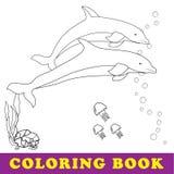 Denna kolorystyki książka dla dzieci ilustracja wektor