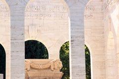 Janiculum OssuaryMausoleum, Rome, Lazio Royaltyfria Bilder
