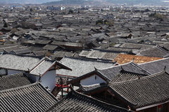 Denna är Lijiang den gammala townen, Kina. Fotografering för Bildbyråer