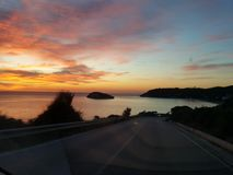 Denna wschód słońca wyspa Obraz Stock