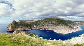 Denna zatoczka, Balaklava, Crimea Obrazy Stock