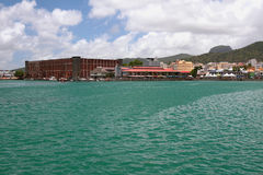Denna zatoka i miasto ludwika Mauritius port Zdjęcia Stock