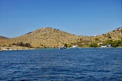 denne Adriatic wyspy Obrazy Stock