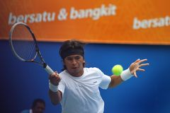 Denne gry: tenis Obraz Royalty Free