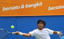 Denne gry: tenis Obrazy Royalty Free