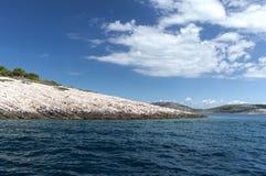 denne piękne Adriatic wyspy obrazy royalty free