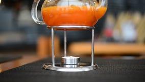 Dennego Buckthorn herbaciana świeczka wygrzewa się w Japońskiej restauraci zbiory