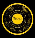Dennego jedzenia ustalony menu Obrazy Royalty Free