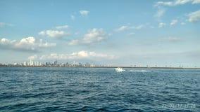Dennego Panamskiego miasta Pacyficzny ocean obraz stock