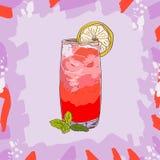 Dennego popiółu koktajlu ilustracja Alkoholiczna ręka rysujący klasyka baru napoju wektor Wystrzał sztuka ilustracja wektor