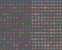 Dennego zwierzęcia elementu kolorowy set 100 Obrazy Royalty Free