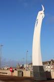 Dennej dymówki rzeźba przy Cleveleys, Lancashire Zdjęcie Stock