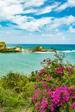 Dennery overziet in St Lucia stock afbeeldingen