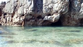 Denni beachs, Toro, kołysają przypływy i zawalają się, Llanes Hiszpania Asturias, Playa Toro Consejo de Llanes Asturias obrazy stock