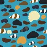 Denni kamienie różnorodni kształty i koloru bezszwowy wzór Relaksuje zdrój kamiennej kopalnej tekstury abstrakcjonistycznego bezs Obrazy Royalty Free