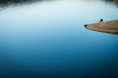 Denni widoki i rybak Zdjęcia Stock