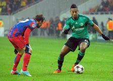 Dennis Aogo durante o jogo da liga de campeões de UEFA Foto de Stock