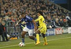 Dennis Aogo and William FC Schalke v FC Chelsea 8eme Final Champion League Stock Photography