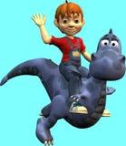 Dennis con el dragón stock de ilustración