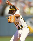 Dennis Eckersley. Oakland Athletics pitcher Dennis Eckersley.  (Image taken from a color slide Stock Photo
