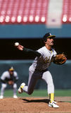 Dennis Eckersley of the Oakland A`s Stock Image