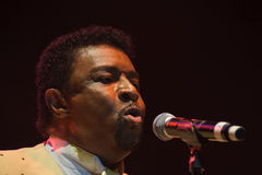 Dennis Edwards. LINCOLN, CA - June 8: Dennis Edwards with The Temptations Review performs at Thunder Valley Casino Resort in Lincoln, California on June 8, 2012 Royalty Free Stock Photography