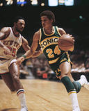 Dennis Johnson. Seattle Supersonics guard Dennis Johnson. (Image from color slide Royalty Free Stock Photos