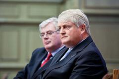 Dennis O'Brien and Eamon Gilmore T.D Stock Image