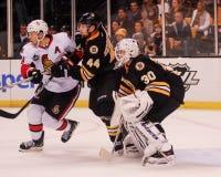 Dennis Seidenberg and Tim Thomas, Boston Bruins. Stock Photos