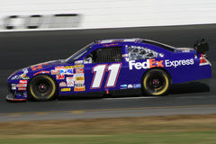 Denny Hamlin in NH. Denny Hamlin at the 2007 NASCAR Race for the Chase at New Hampshire International Speedway Royalty Free Stock Image