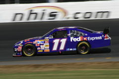 Denny Hamlin Races in NH. Denny Hamlin at the 2007 NASCAR Race for the Chase at New Hampshire International Speedway Stock Images