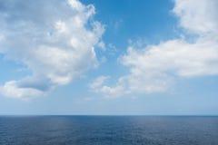 Denny horyzont i chmurny niebo Obraz Royalty Free